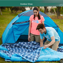 Inverno engrossar poliéster viagem ao ar livre caminhadas camping azul múmia saco de dormir