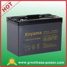 Batería marina del hogar de la batería del ciclo profundo de calidad superior 100ah 12V AGM