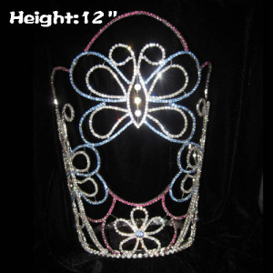 12inch Large Butterfly Crystal Pageant Crowns