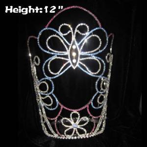 Coronas grandes de 12 pulgadas de cristal de mariposa