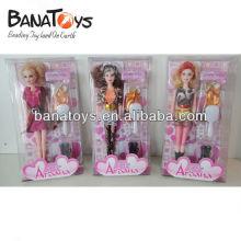 3 pièces de poupée de 11 pouces jouet de poupée avec des vêtements