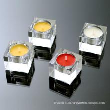 Verschiedene Form Kristall Glas Kerzenhalter Handwerk für Geschenk Dekoration