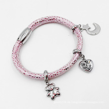 Echtes Stingray Skin Lederarmband mit Custom Made Charms