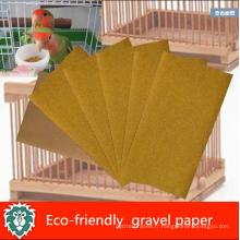 Papier naturel de gravier d'oiseau de protection de l'environnement naturel