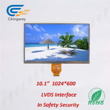 10.1 Inch Resolution 1024 Rgbx600 TFT Type LCD