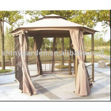 Aluminum FABRIC ROOF Gazebo luxury garden outoddr gazebo tent