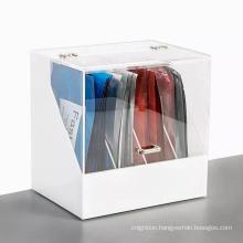 Acrylic desk facial mask holder collection box organizer