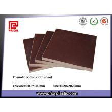 3025 feuille de stratifié de tissu de coton phénolique