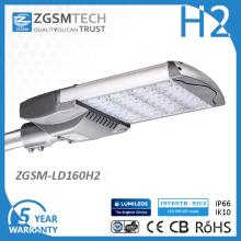 Alumínio anodizado luzes de rua do diodo emissor de luz de 160 watts IP66