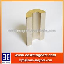 ningbo east magnet generator permanent neodymium magnet for sale/segment magnet for sell/arc shape magnet for sale