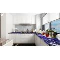 comptoir de cuisine et dessus de table en sodalite super bleu