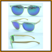 F15289 Klassische Rahmen High Qualität Metall Brücke Bambus Arm Sonnenbrillen