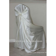 self-tie back chair cover,CT340 satin chair cover,universal chair cover