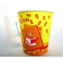 Single-Wall Paper Cup with Handle for Hot Drinking-Swpc-27