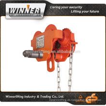 hohe Qualität Plain Trolley und einfachen Laufkatze für Hebezeug-Ausrüstung