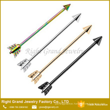 Surgical steel Titanium Plated Arrow Industrial Cartilage Earrings