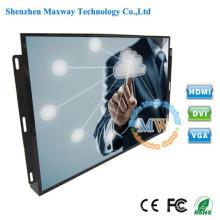 Entrada de quadro aberto HDMI monitor de tela de toque de 19 polegadas com porta USB