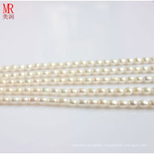 6-7mm White Rice Shape Freshwater Pearl Strands