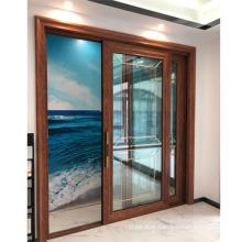 Standard size of main gate design aluminium glass sliding door