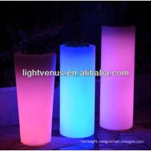 solar led flower planter pot lightled flower vase lightColor Changing LED light outdoor flower pot