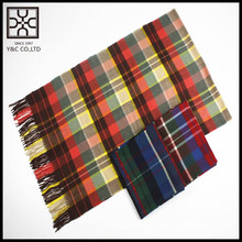 Cashmere Hand Feeling 100% Acrylic Checked Scarf