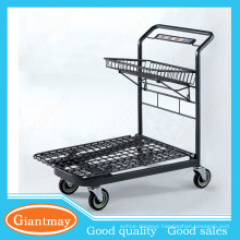 universal shop retail chromed supermarket warehouse hand trolley