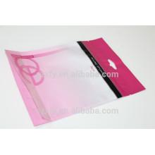 Vente en gros de sacs en plastique de masque facial avec fermeture à glissière pour Lady