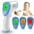 Termômetro de testa sem contato com display LCD infravermelho