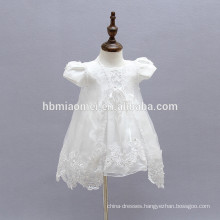 6M 9M 12M White Toddlers Dresses Baby Girls Infant Baptism Dresses Toddler Girl Clothes with Embroidery Cappa