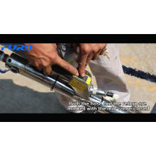 Máquina de llenado de empuje manual Tipo de mano Reparación de carreteras Máquina de llenado de sellado de grietas de asfalto de concreto FGF-100