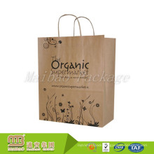 China Bespoke Packaging Factory Customized Handled Recyclable Kraft Material Personalised Paper Bags Brown