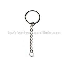 Moda de alta qualidade de níquel de metal anel dividido com 9 Link Chain
