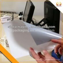 Un côté gris un côté blanc polyester AB film pour impression publicitaire