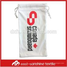 Mini Seide Siebdruck Drawstring Gläser Tasche