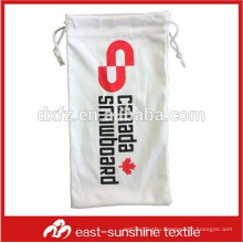mini silk screen printing drawstring glasses pouch