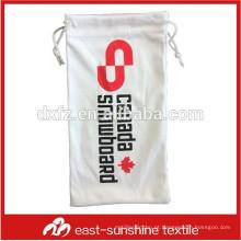 Mini tela de seda impressão drawstring bolsa de óculos