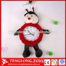 Китай завод Плюшевые часы крышки плюшевых животных часы покрытия Божья коровка форме плюшевые покрытия