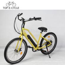 Bicicleta eléctrica del crucero de la playa de la batería del Li-ion de 48 voltios con la bicicleta eléctrica del neumático de Kenda 26inch China