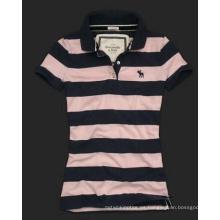 Camiseta de polo con tinte de lana para mujer