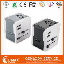 Travel power adaptor with 2 USB fast charger for japan plug adaptor with pouch