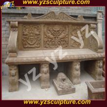 Античный каменный сад скамья со спинкой