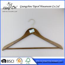 Großhandel aus Holz Kleiderbügel für Hotel heißen Verkauf Bulk billige hölzernen Kleiderbügel