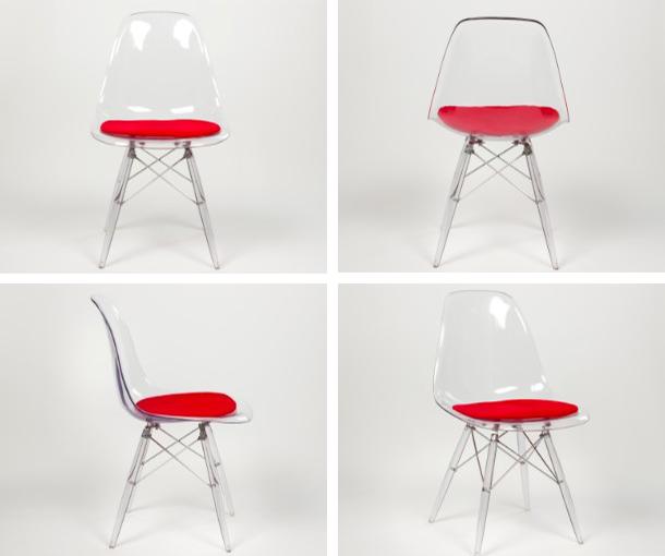 China transparante eames armless stoel high quality transparante eames armless stoel op - Transparante plastic tafel ...