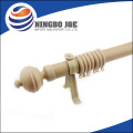 35mm Wood Color Steel Curtain Pipe