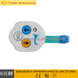 ZIF cable membrane three buttons control led switch keypad