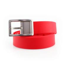 """Cinturón de silicio de 1,5 """"de ancho personalizado con hebilla de metal"""