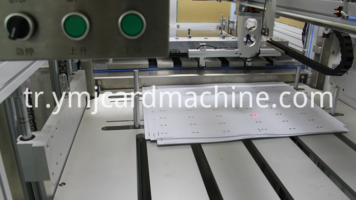 Detail of Smart Card Cutting Machine
