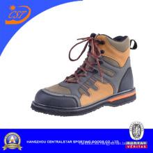 Botas altas de cuero de PVC para hombres