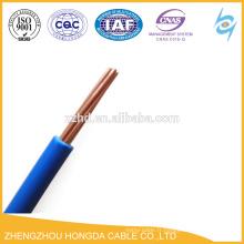Fil isolé par PVC solide brin cuivre conducteur fil électrique 1.5 2.5 4 6 10 16 25 35 50