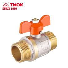 Válvula de bola de latón DN40 1-1 / 2 '' fabricante chino Válvula de bola de latón con junta tórica para colectores